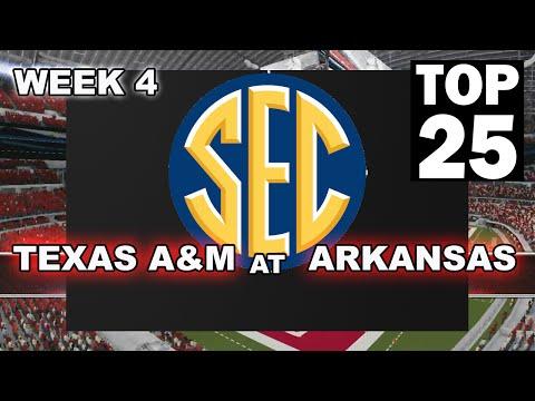 2015 Week 4  - #16 Texas A&M (cpu) at #12 Arkansas (cpu)