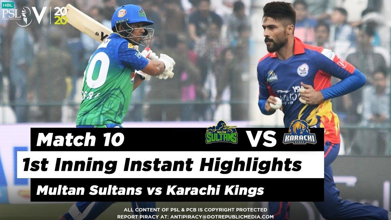 Multan Sultans vs Karachi Kings | 1st Inning Highlights | Match 10 | 28 Feb 2020 | HBL PSL 2020