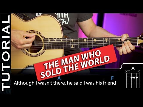 Guitar lesson HOW TO PLAY NIRVANA Man Who Sold The World GUITAR CHORDS