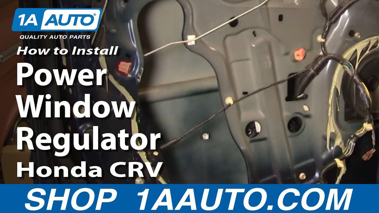 Driver side WINDOW REGULATOR W//MOTOR 02 03 04 05 06 CR-V REAR LEFT