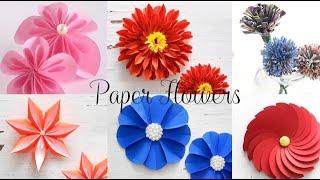 6 DIY Paper Flowers