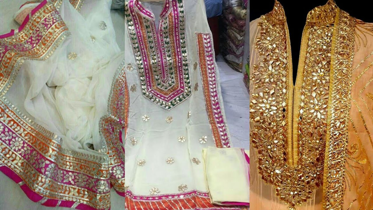 New Top 50 Gota Patti Work Dresses Designs Idea's For Weddings 2019
