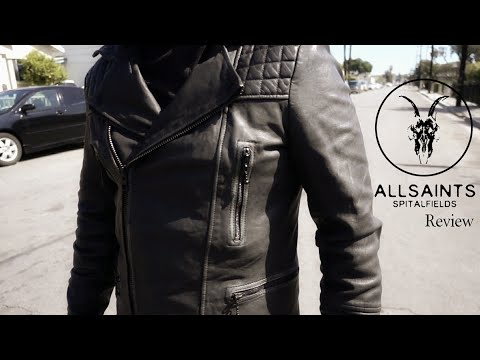 ALLSAINTS Cargo Leather Jacket|Review Try On Outfit.