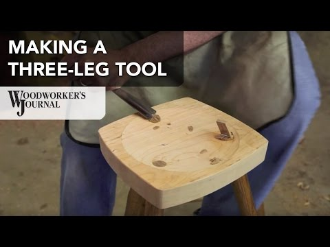 How to Make a Three Legged Stool | Woodturning Project