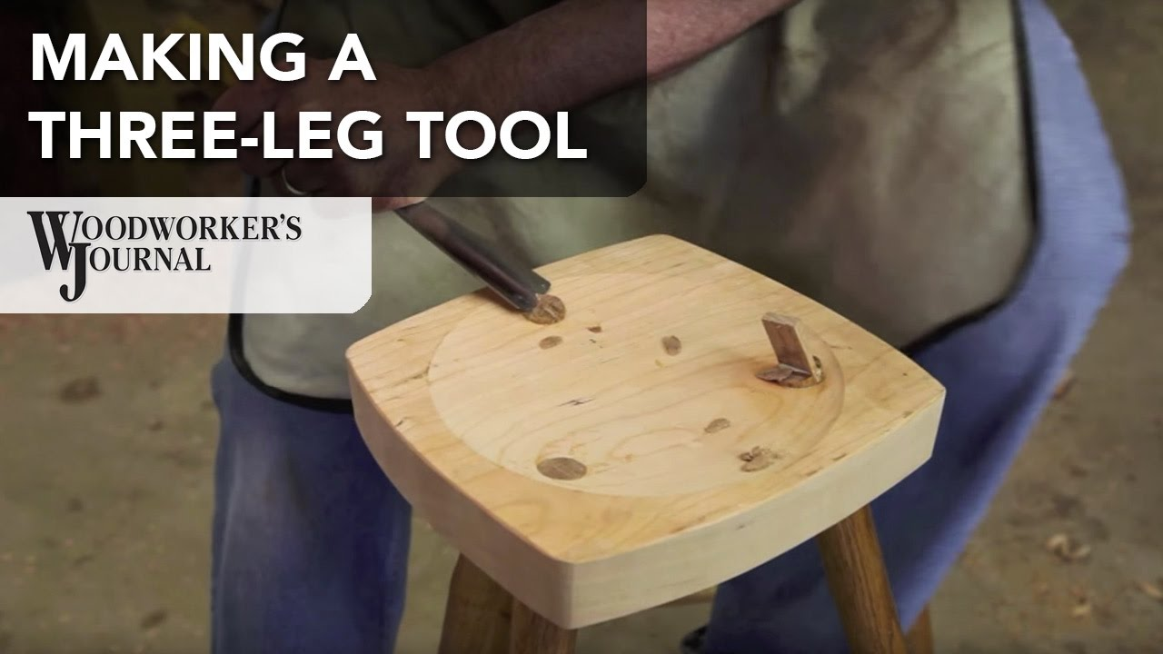 How to Make a Three Legged Stool | Woodturning Project ...