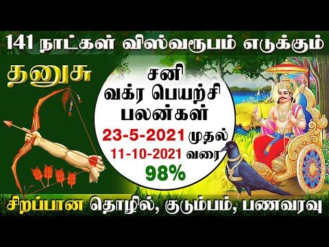 Dhanusu Sani Vakra Peyarchi Palangal 23-5-2021   தனுசு சனி வக்ர பெயர்ச்சி பலன்கள்-2021