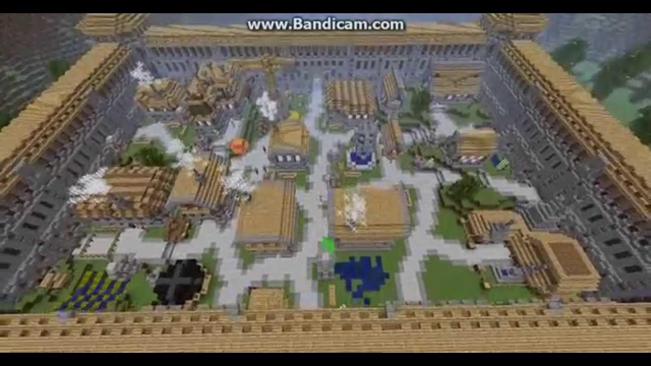 Карта Майнкрафт Деревня с Жителями