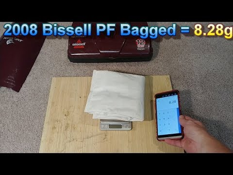 2008 Bissell Powerforce 3537 Whole House Carpet Cleaning With Weighed Results