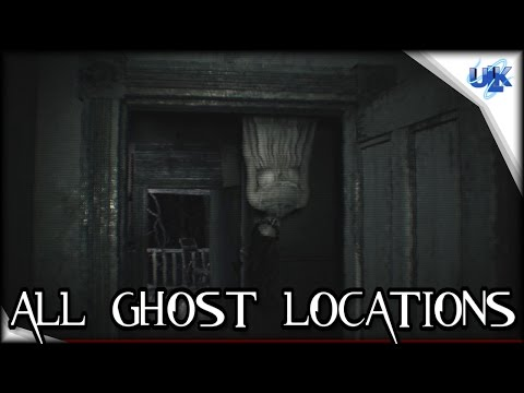 Resident Evil 7 Secrets - All 7 Ghost Locations Gameplay | PS4