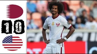 ملخص مباراة قطر وامريكا 0-1   مباراة مجنونة - نصف النهائي