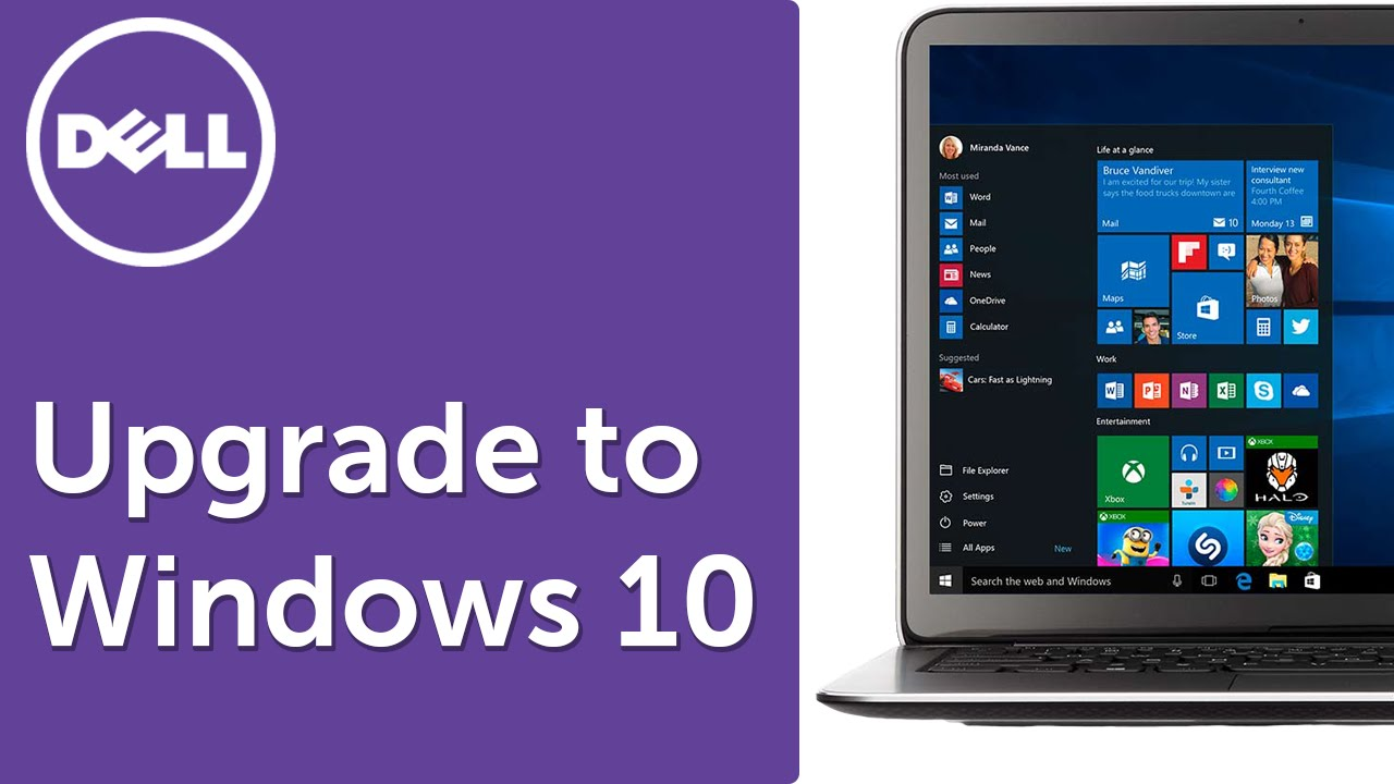 Windows 10 Upgrade (Official Dell Tech Support)