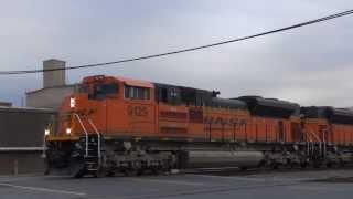 BNSF & CSX: 3 evening trains passing thru / Dalton GA