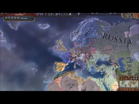 EU4 Brandenburg into Germany timelapse