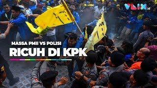 Ricuh Demo Massa PMII vs Polisi di KPK