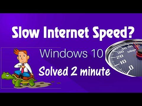 How to fix Slow internet Speed in windows 10 update 2017