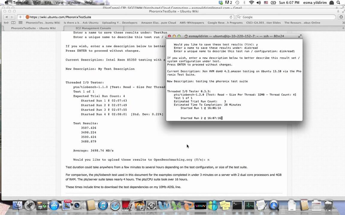 Phoronix Test Suite on Amazon EC2 - Part 2