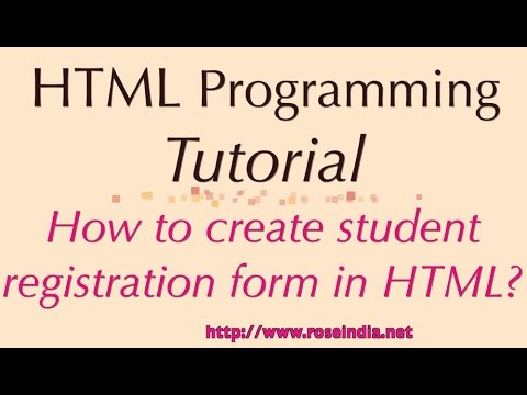 How To Create Student Registration Form In HTML?