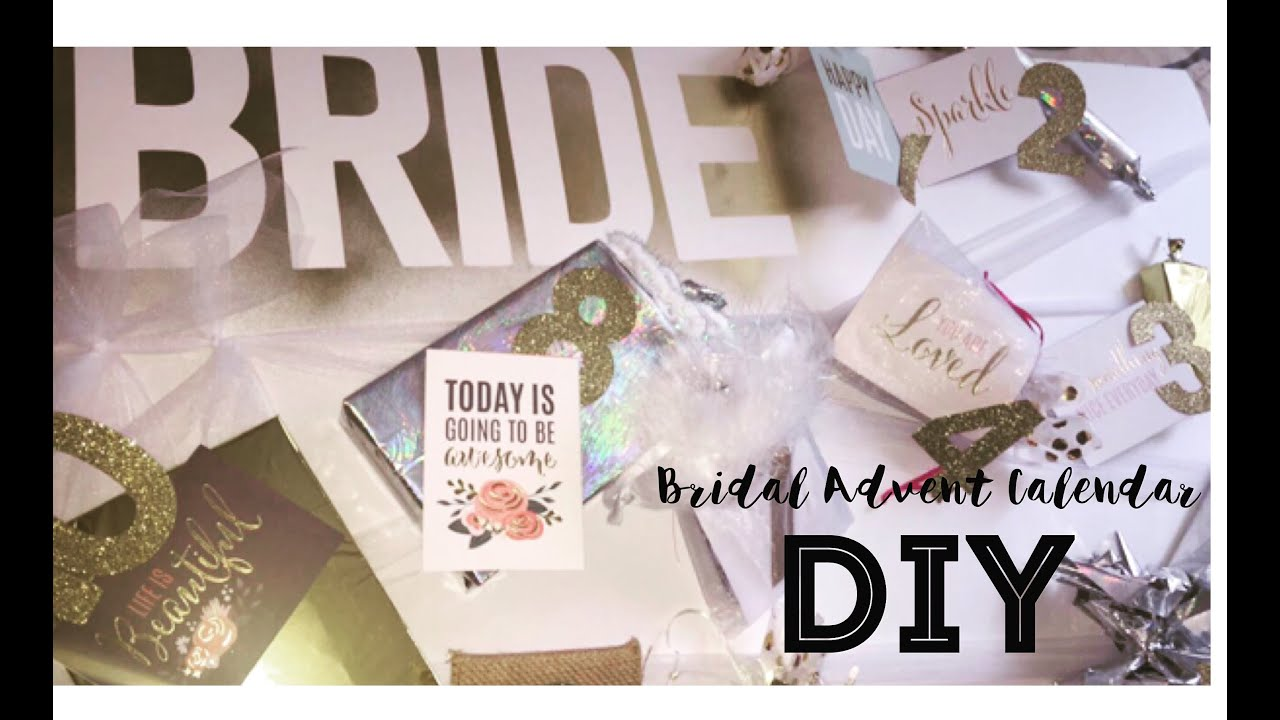 Advent Calendar Ideas Wedding : Wedding diy bridal advent calendar mini gift guide