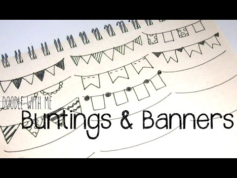 Draw Buntings And Banners For Your Planner Bullet