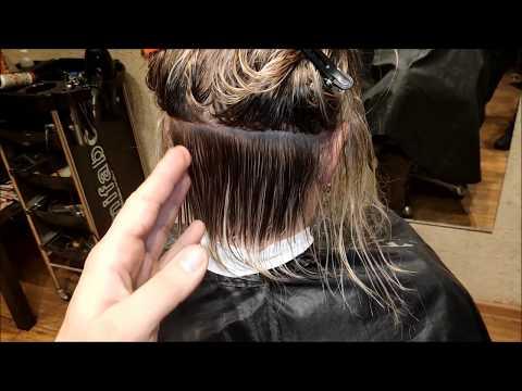 Женская стрижка Градуированное каре. Women Haircut.