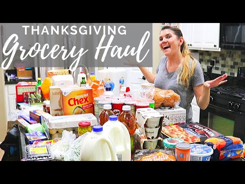 Thanksgiving GROCERY HAUL // Cleaning Mom