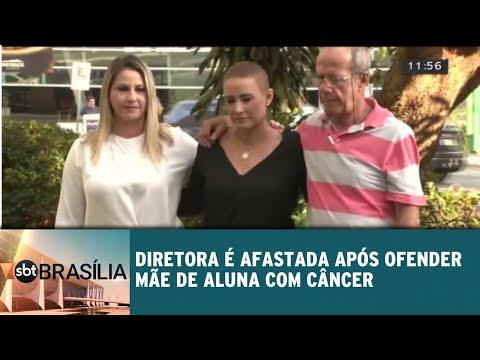 Diretora é afastada após constranger mãe de aluna com câncer | SBT Brasília 03/08/2018