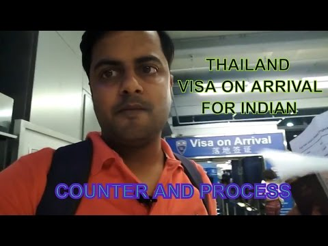 Thailand Visa On Arrival Process  For Indian