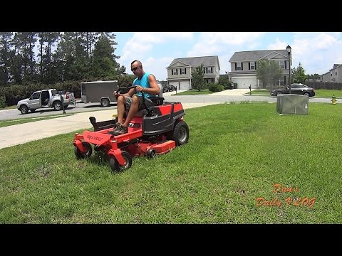 Cutting Tall Grass - Lawn Mower Blade Trick - Route Density Example