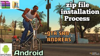 How to install zip files on android || 2018 || Gta San andreas zip installation process ||