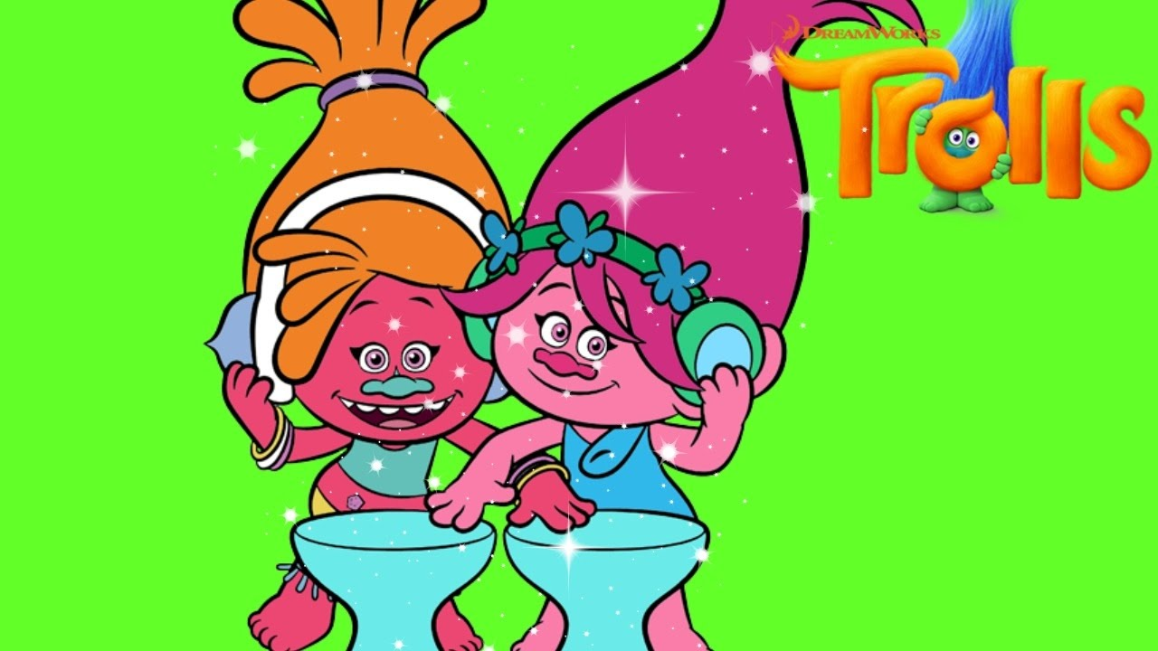 DreamWorks Trolls Dj Suki & Poppy Fun Coloring Page For Children ...