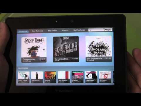 BlackBerry PlayBook Music App & 7digital Music Store