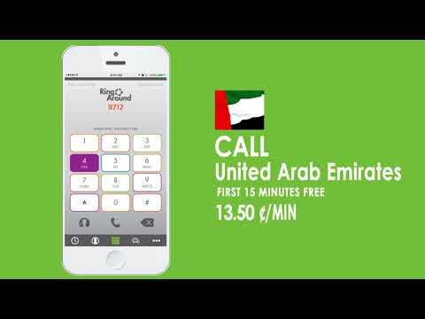 Ring Around App - Make Calls to United Arab Emirates