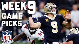 Week 9 Game Picks in Under 3 Minutes ⏱🏈  | NFL