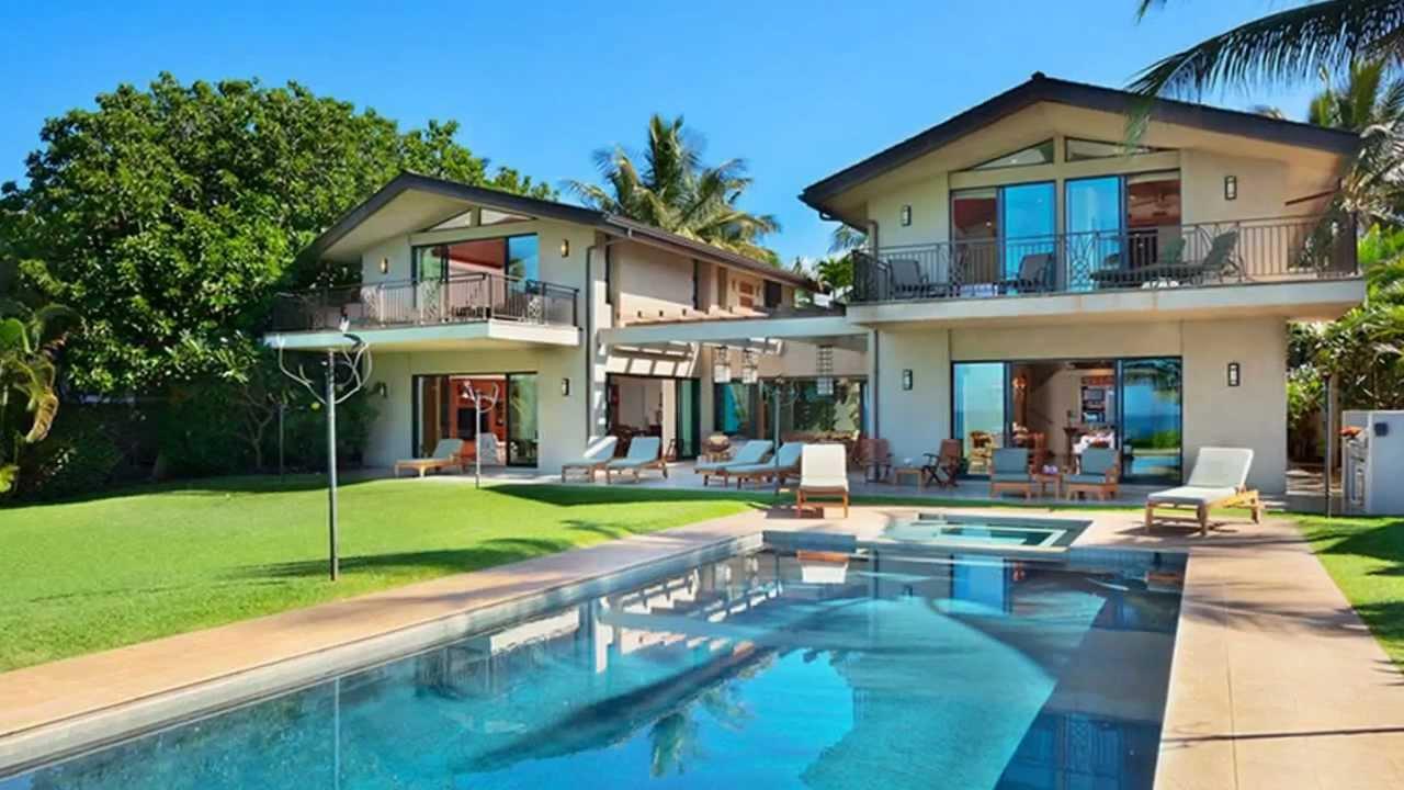 Wailea Beach front House Maui Hawaii Vacation Rental - YouTube