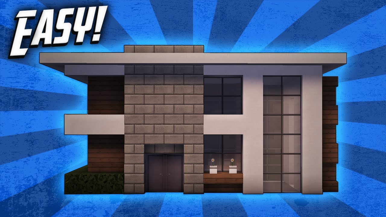 Minecraft How To Build A Small Modern House Tutorial 6