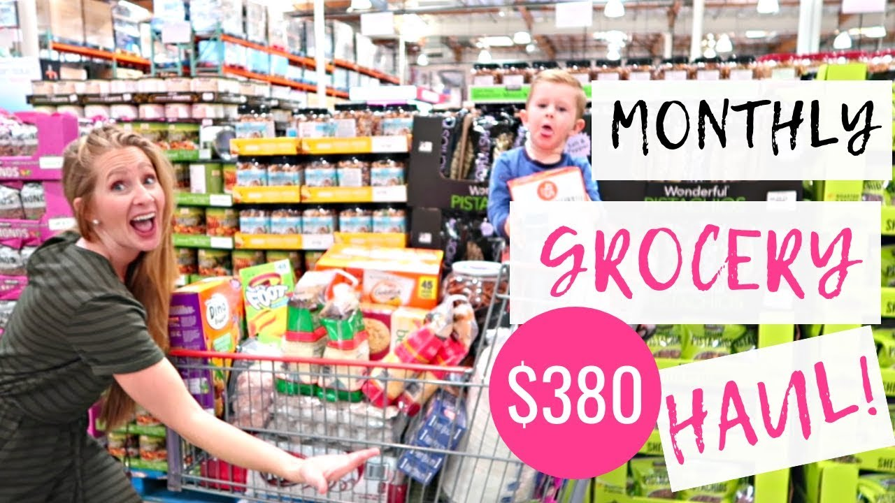 November 2018 Monthly Grocery Haul on a Budget