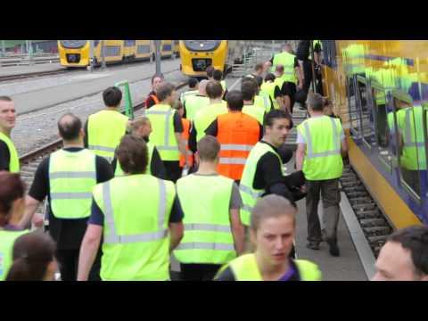 Let's Train: Krav Maga in a train, by Institute Krav Maga Netherlands (IKMN)