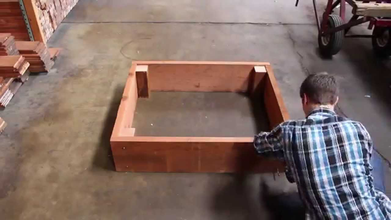 How To Build A Redwood Raised Garden Bed Youtube