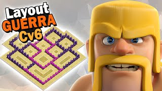 LAYOUT CV6 DE GUERRA - BRUTO - CLASH OF CLANS