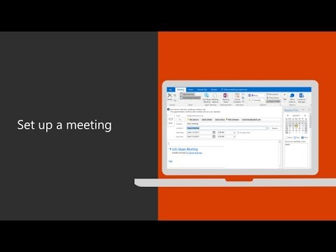Set Up A Meeting In Microsoft Outlook 2016