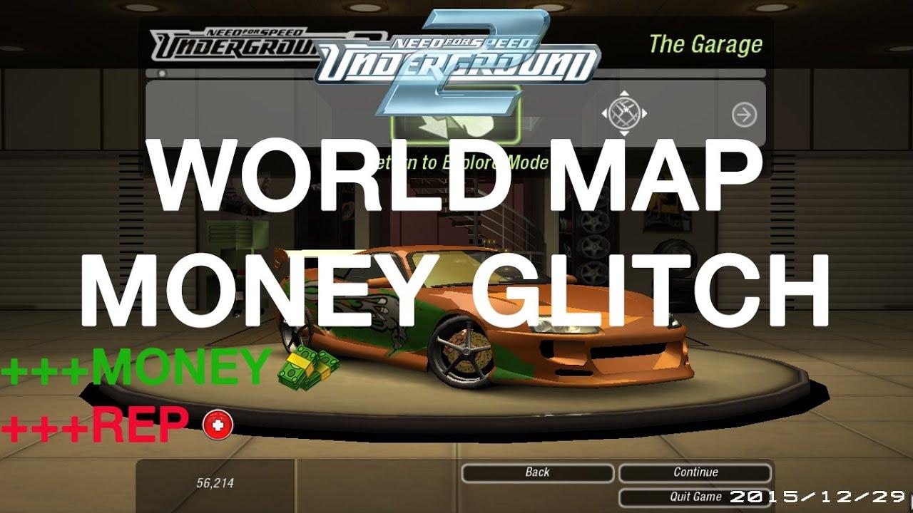 Nfs Underground 2 Money Glitch World Map Youtube