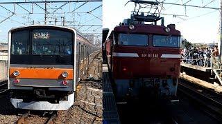 2020/03/25 【ジャカルタ譲渡配給】 205系 M31編成 EF81 141 新習志野駅 | JR East: 205 Series M31 Set to Jakarta