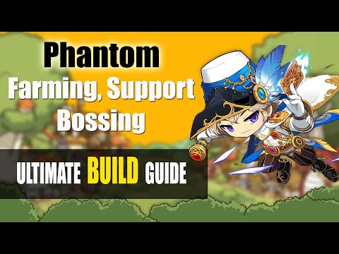 Maplestory M - Phantom Farming Support And Bossing Builds