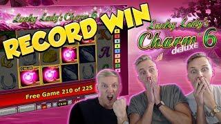 RECORD WIN!!!! Lucky Ladys charm 6 Big win - Casino - Huge Win (Online Casino)