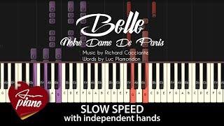 Belle - Notre Dame De Paris - SLOW Piano Tutorial & Sheets