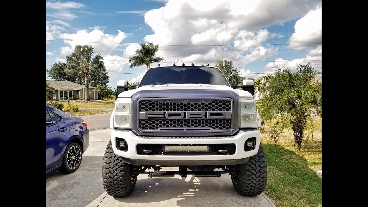 lifted   raptor style grill installed youtube