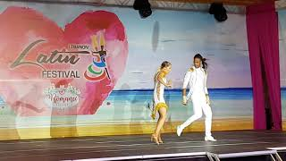Gaby y Estefy salsa dance performance @Lebanon Latin Festival