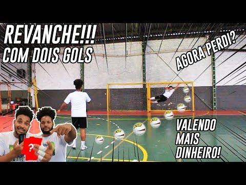 DESAFIO DO TIRO LIVRE | A revanche, com dois gols | AGORA PERDI? #DesafieiMeuIrmão
