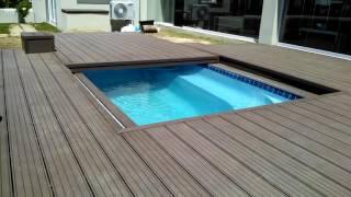 видео Автоматическая закрывающая терраса для бассейна