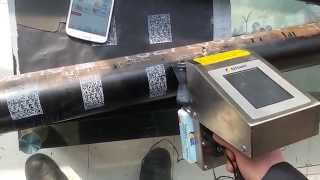 Steel tube barcode hand jet printer|Industrial handheld inkjet printer|white color barcode printer Thumbnail